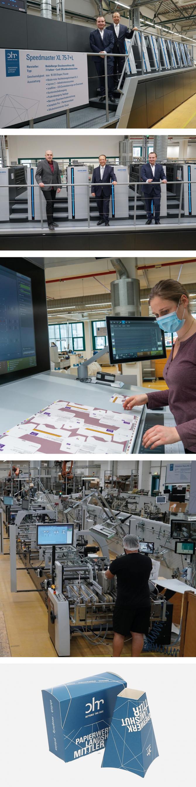plm investiert in modernste Drucktechnologie / Bogenoffset / Verpackungsdruck / Speedmaster / 7 Farben Druckmaschine